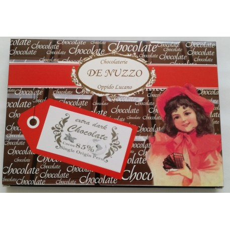 Tavoletta cioccolato extra fondente 85% cacao monorigine Perù