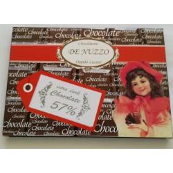 Tavoletta di cioccolato fondente 57% cacao gr. 100